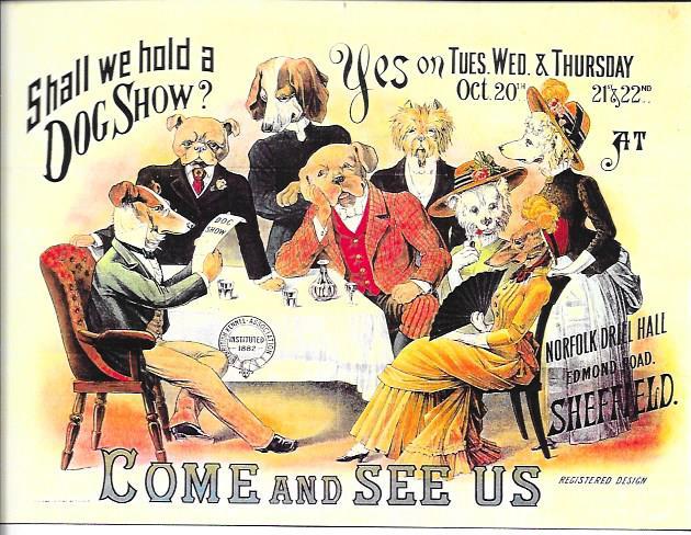 16 Manifesto pubblicitario per l'esposizione tenuta dalla British Kennel Association alla fine dell'800