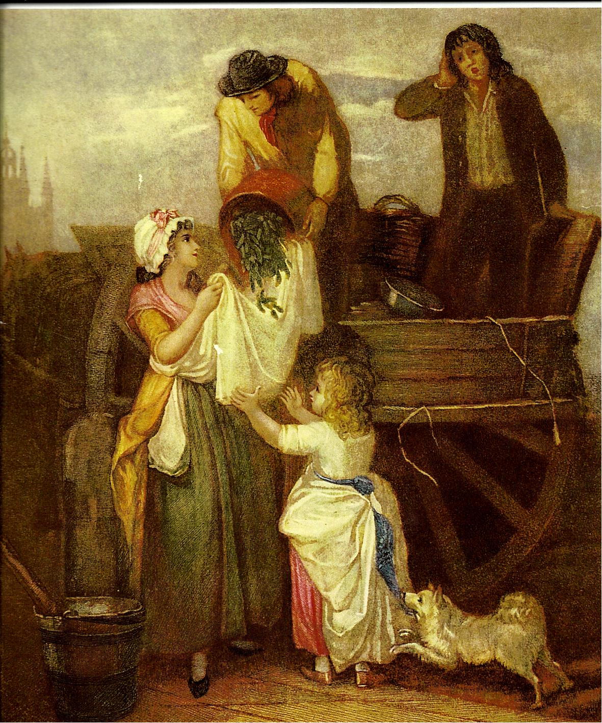 19 Venditori ambulanti. Stampa inglese del XVIII secolo