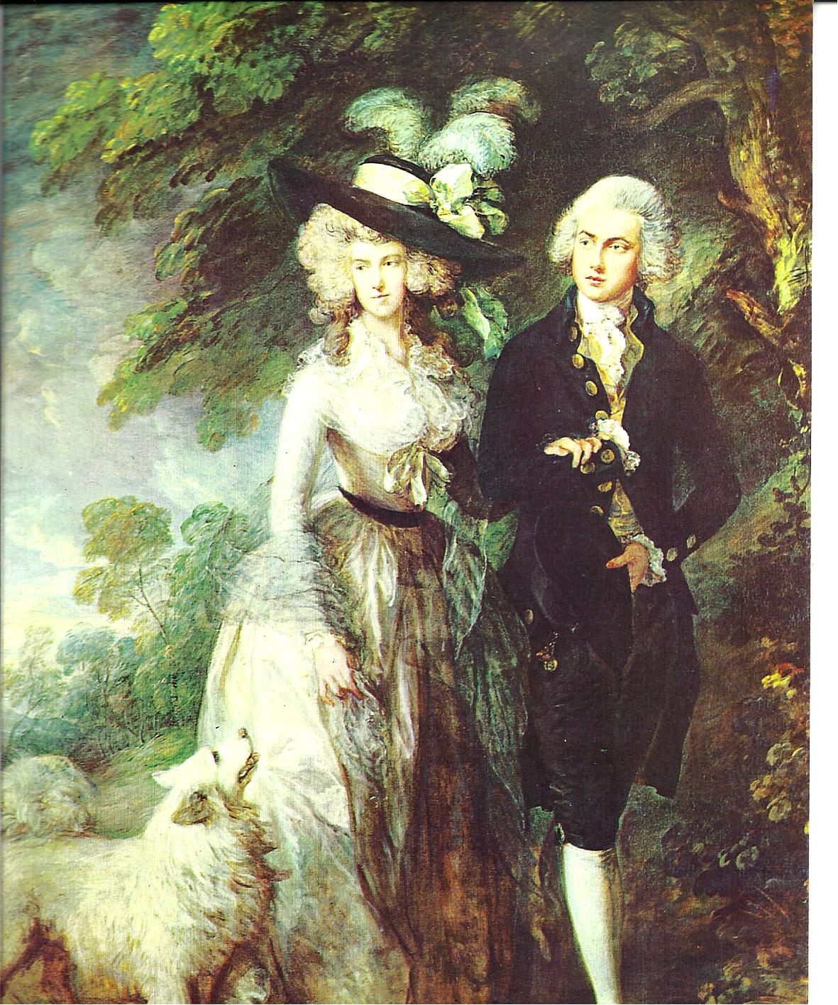 "4 Thomas Gainsborough. ""La passeggiata del mattino"". Olio su tela, 1785. Londra, National Gallery"