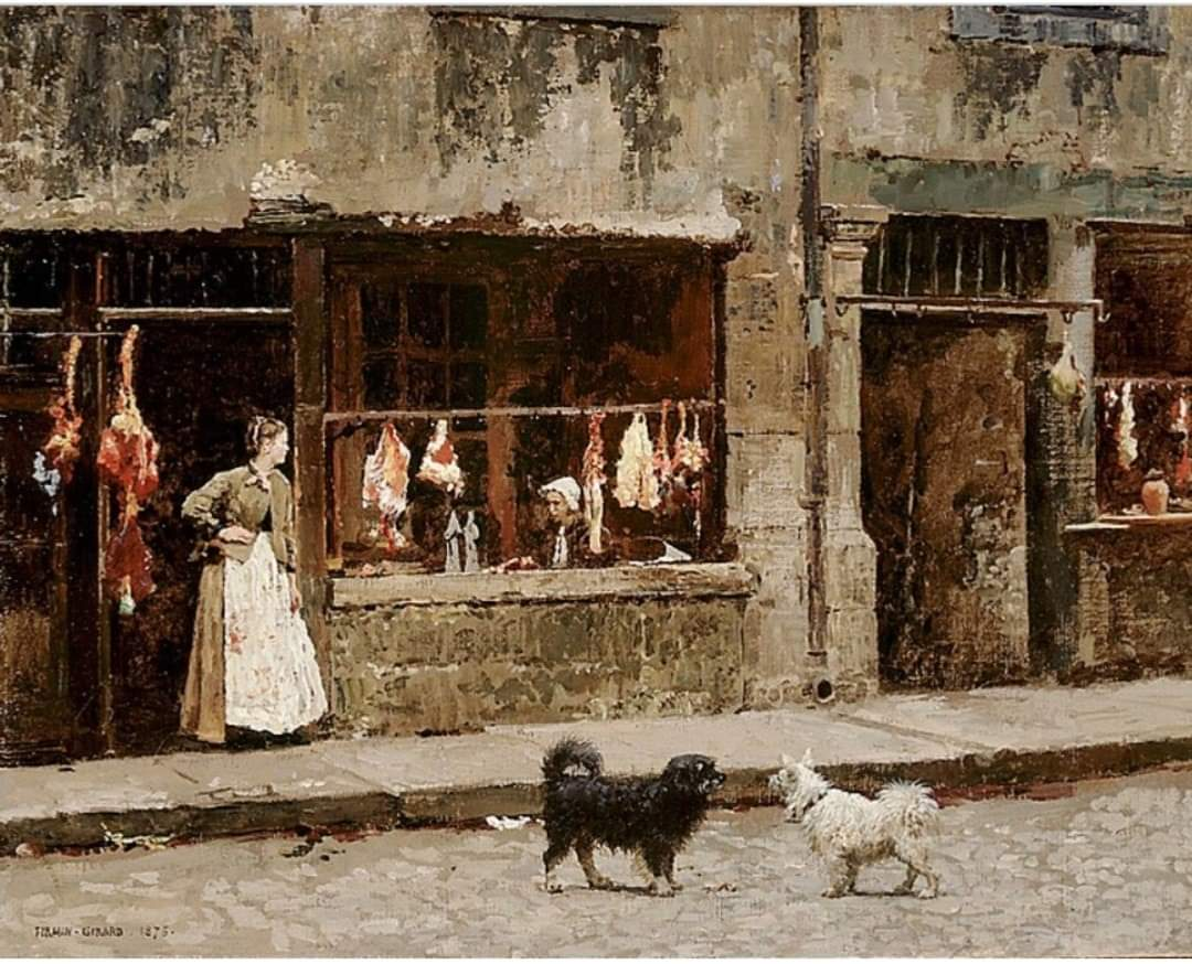 Marie-François Firmin Girard -  The street in Paris - 1875