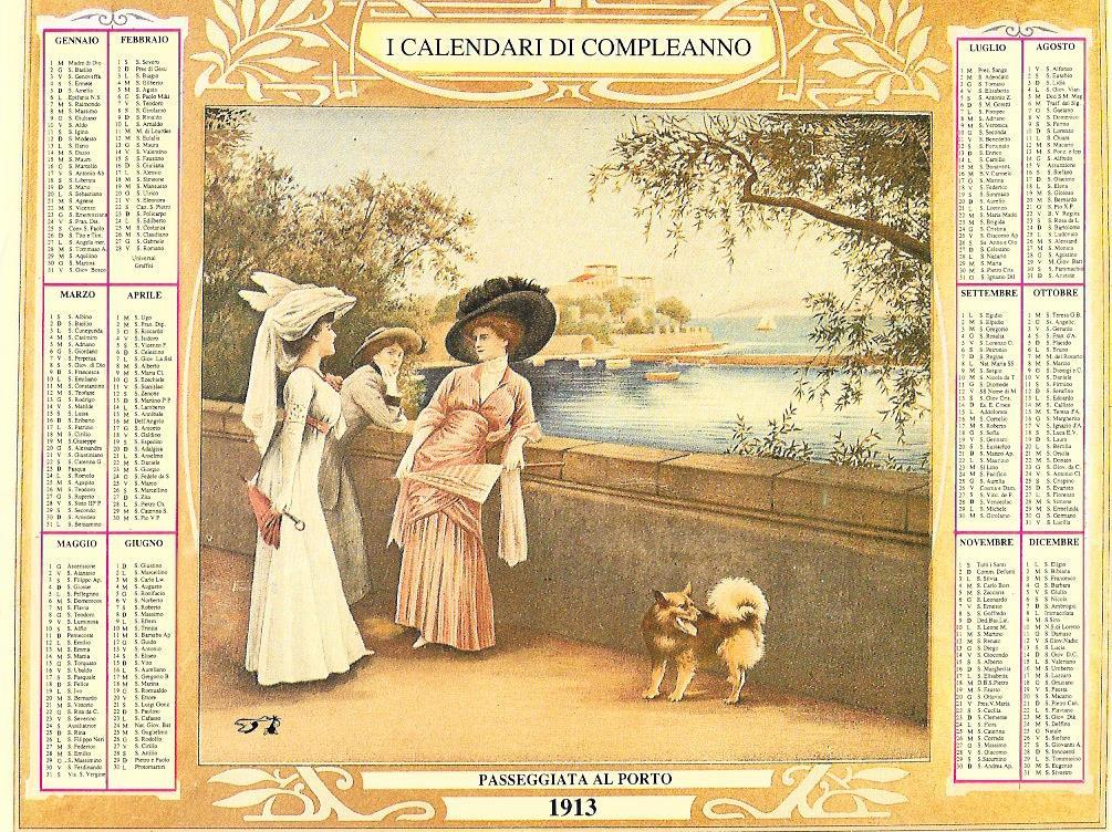 I calendari del compleanno - 1913 - Passeggiata al porto