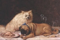 Horatio Henry Couldery -dinner-for-two-dog-art