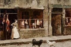 Marie-François Firmin Girard -  The street in Paris - 1875