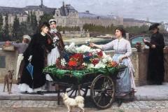 Marie-François-Firmen-Girard-Paris-1872-THE-FLOWER-SELLER-ON-THE-PONT-ROYAL