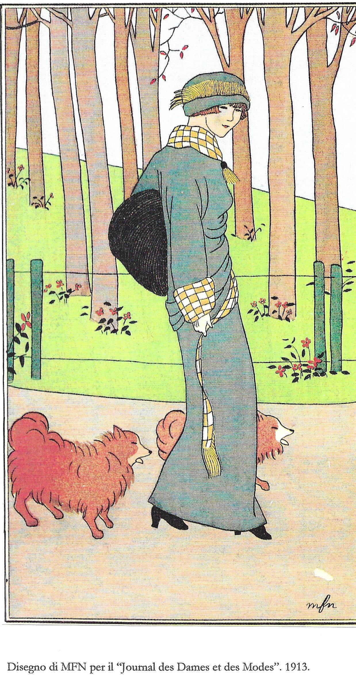 """18 Disegno di MFN per il """"Journal des Dames et des Modes"""" 1913"""